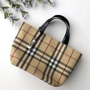 Authentic Burberry Nova Check canvas handbag